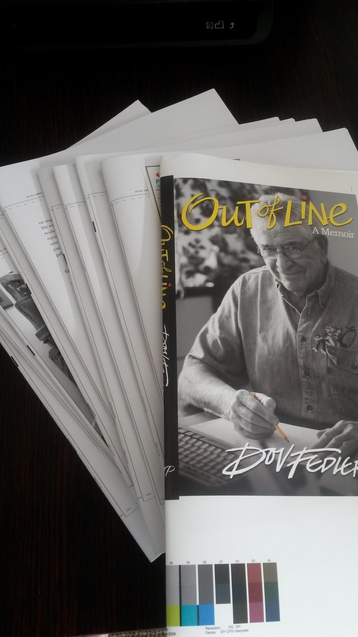 Page-proofs signed off, let the printing of OUT OF LINE begin