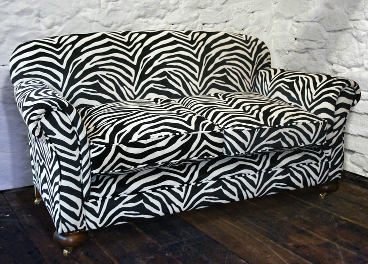 This 1920u0027s Sofas Was Restored And Re Upholstered In A Zebra Velvet Fabric  From Kobe