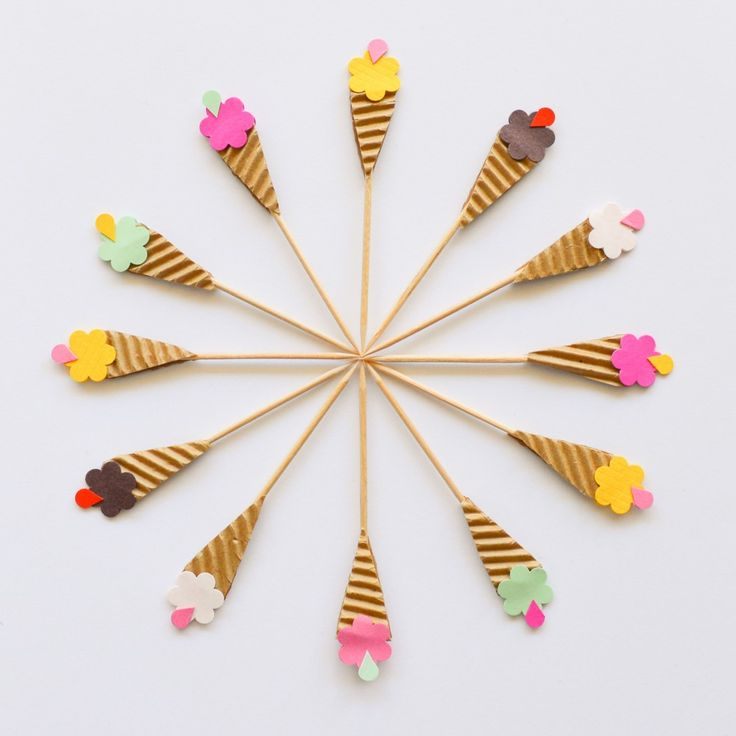 Cupcake Toppers - Ice Cream Cones - Handmade by Ministry of Art - Cake Shop - Party Alphabet
