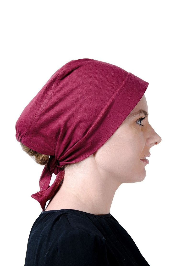 Egyptian Cotton with a Wide Headwrap in maroon.#headscarves #cancerpatients #headcovers