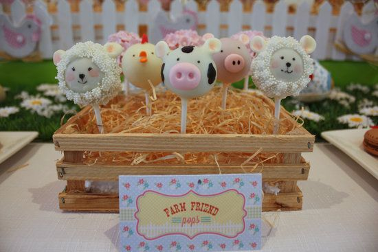 Animal Cake Pops: How adorable are these animal-head cake pops? Source: Kiss Me Kate