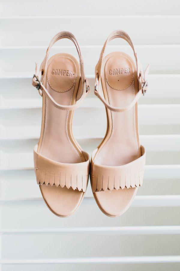 neutral fringed heels//