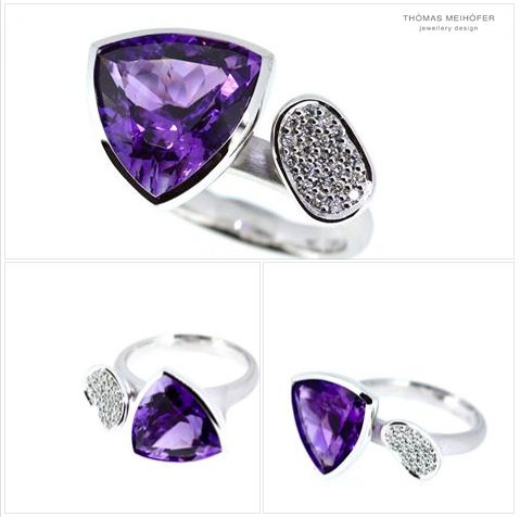 We are pretty sure the new owner of this stunning amethyst and diamond ring was a jewellery designer in a past life… Nicole had such a clear vision of what she wanted, it feels like we barely lifted a finger!  Congratulations on your anniversary Nicole, glad we could bring your vision to life!