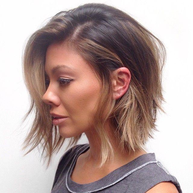Style  Hair color by @brendakamt Haircut/Style @salsalhair  #hairbysal #hair #haircut #hairstyle #haircolor #shorthair #longhair #messyhair #coolhair #sexyhair #bedhead #lob #bob #texturedbob #makeover #style #ramireztransalon #LA