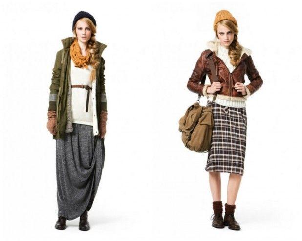 Повседневный и оригинальный стиль Casual, клетчатые юбки, просторные свитера и удобная верхняя одежда