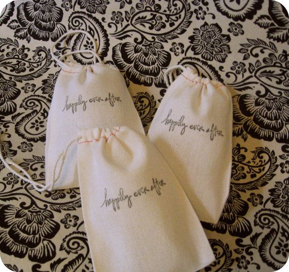Note: Cute for putting a favor in, like maybe a disney pin?  happily ever after favor bags. disney wedding anyone?