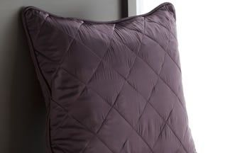 Silk Quilted Euro Sham. It is supplied as a shell, and uses our highest quality 100% silk floss batting -- not the polyester batting some manufacturers use -- and a 100% cotton lining. Avaliable in many colors. | www.manitosilk.com