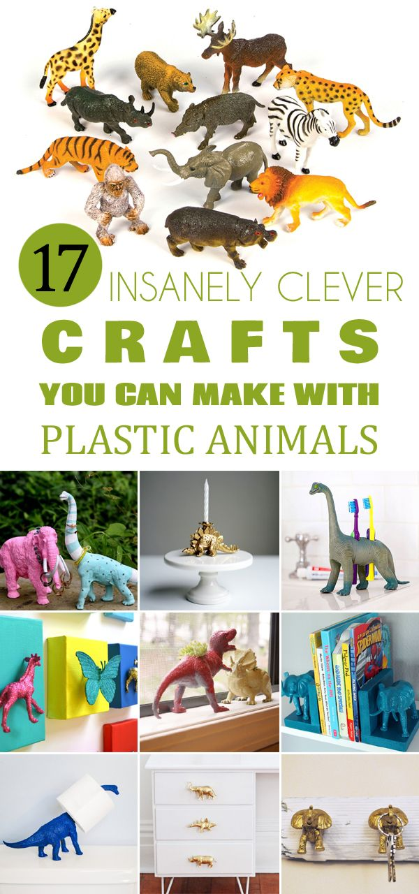 17 Insanely Clever Crafts You Can Make with Plastic Animals →