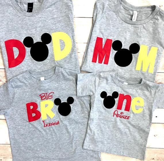 Mickey Family Shirts Disney Family Shirts Mickey Mouse Etsy In 2021 Mickey Family Shirts Mickey Mouse 1st Birthday Mickey Mouse Birthday Shirt