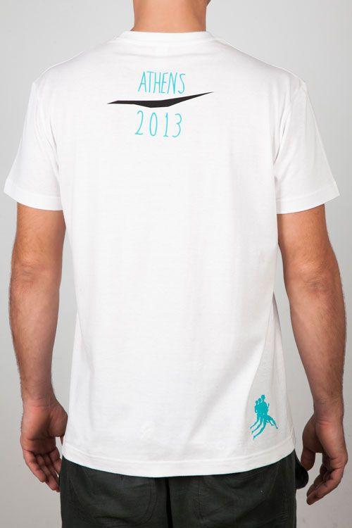 Men T-Shirts : Man White Tee - Graphic Design