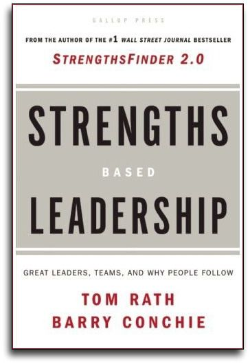StrengthsFinder Leadership Themes	E-mail In Strengths Based Leadership, authors Tom Rath and Barry Conchie discovered in their research that there are four domains of leadership strength -- executing, influencing, relationship building, and strategic thinking -- and all are critical to the overall effective functioning of a leadership group.   Executing  Influencing  Relationship Building  Strategic Thinking