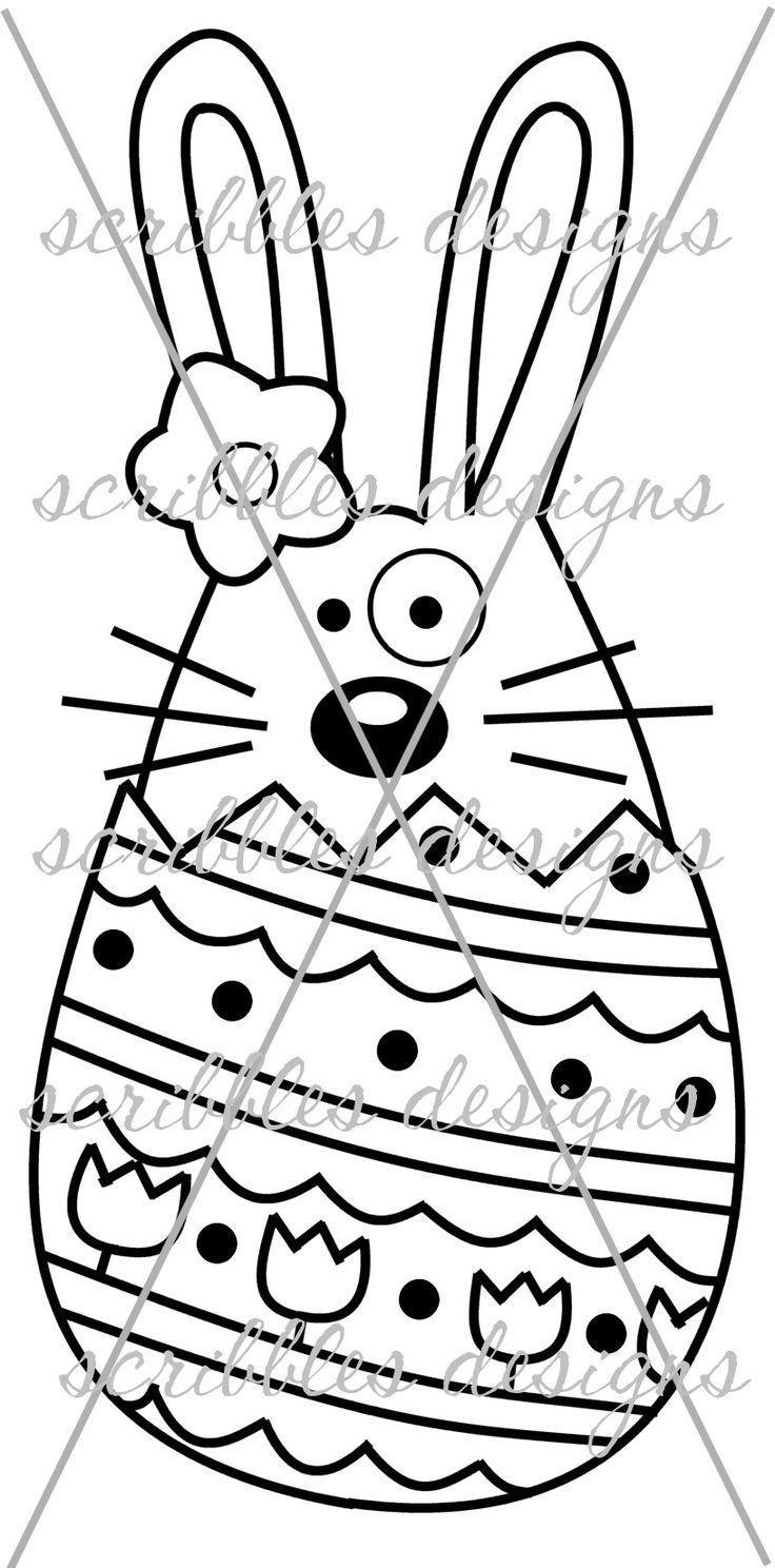 $3.00 Hoppy Egg 2 (http://buyscribblesdesigns.blogspot.ca/2014/03/421-hoppy-egg-2-300.html) #digital stamps #digis #bunny #Easter #egg #scribbles designs