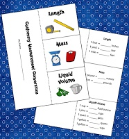 Free Customary Measurement Foldable and ideas for teaching measurement