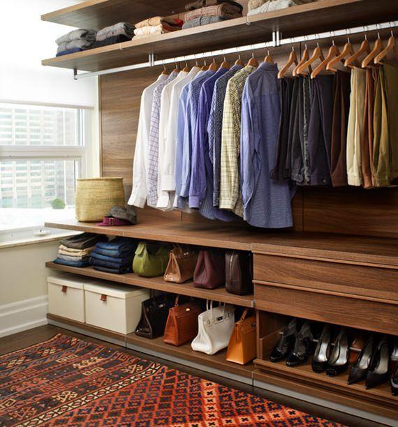 25 melhores ideias sobre guarda roupa aberto no pinterest arm rios abertos guarda roupa para - Como forrar un armario por dentro ...