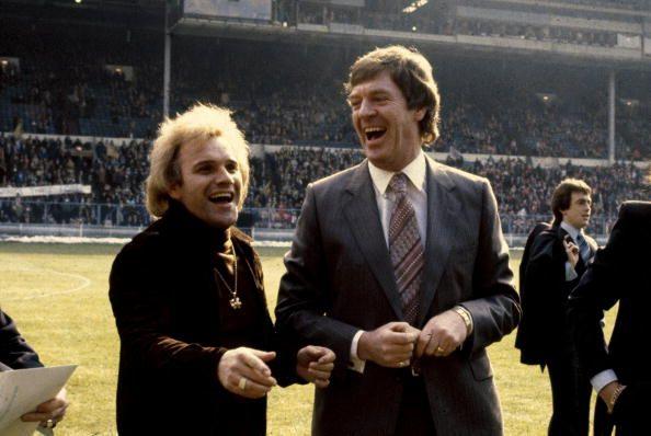 1976 FACharity Shield at Wembley Liverpool 1 v Southampton 0 Southampton Manager Lawrie McMenemy enjoys a joke with 'madcap' comedian Freddie Starr...