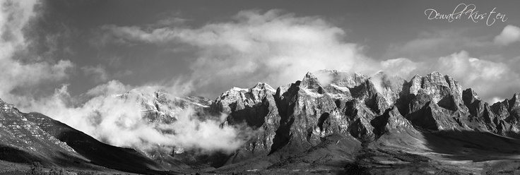 snow capped mountains in the boland.