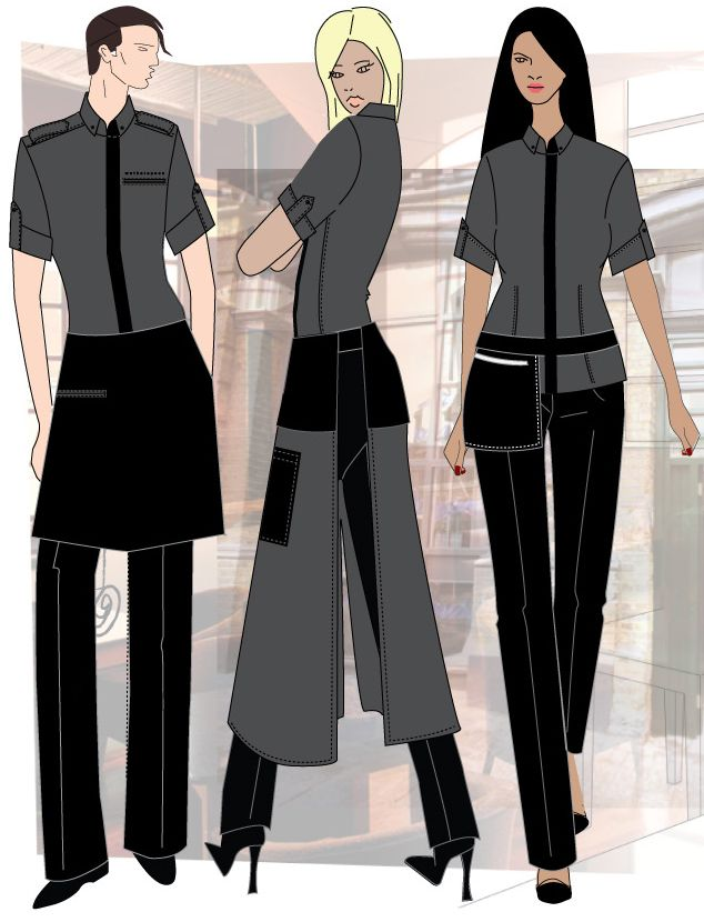 cool restaurant uniform ideas google search - Clothing Design Ideas