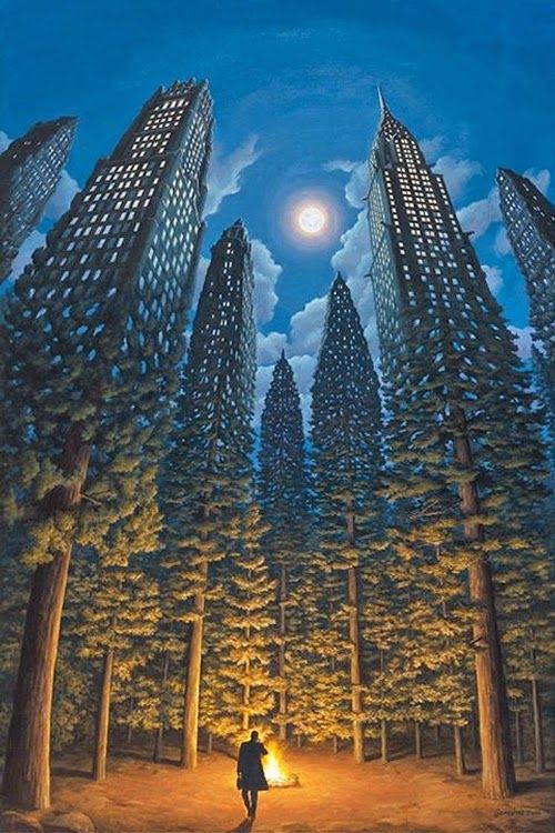 Magic Realism in Surreal Paintings.  Rob Gonsalves creates artwork that makes you do a double take. More information and more images from this Artist, Press the Image.