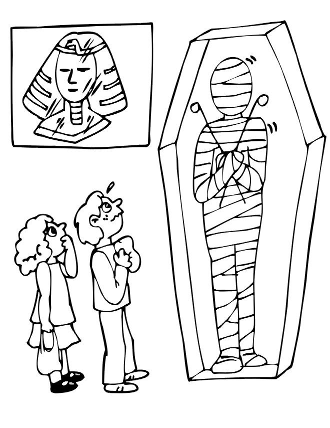 Egyptian Mummy Coloring Pages Egyptian Mummy Coloring Pages ...