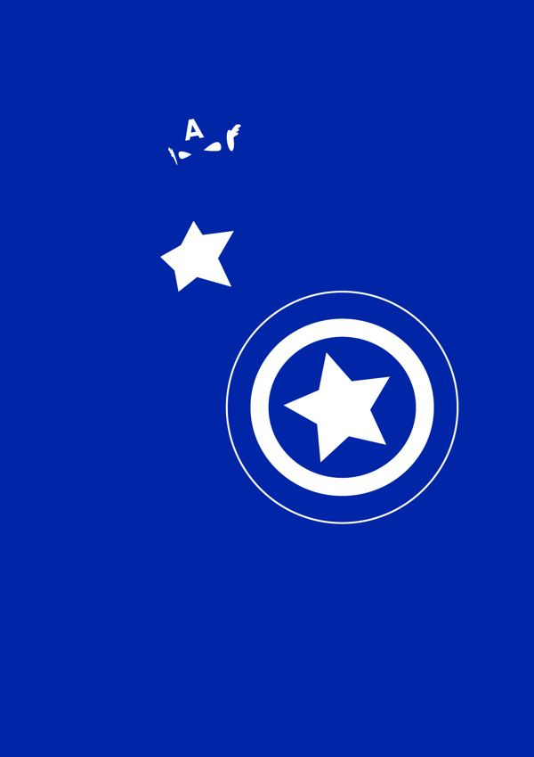 Captain America (Super Hero Minimalist Poster) | By: Michael Turner, via Behance