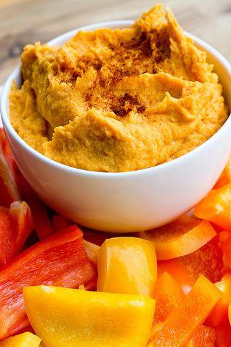 Sweet Potato Hummus - The best hummus I've ever made!