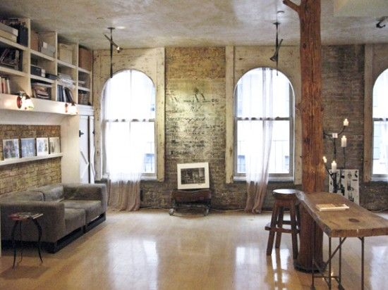 Best NYC Loft Bedroom Style Images On Pinterest Bedroom Ideas - Contemporary soho loft with exposed brick and wood beams