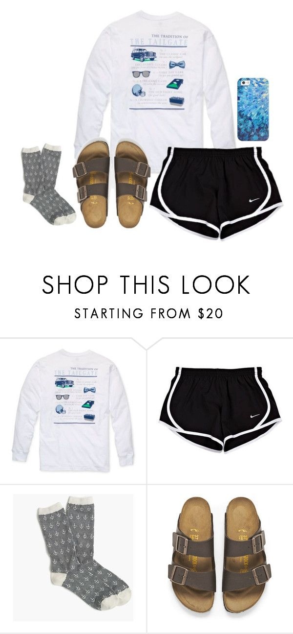 """""""bought myself these socks cause as you can prob tell from my sets that I love socks"""" by lillynelsonn ❤ liked on Polyvore featuring Southern Proper, J.Crew, Birkenstock and Casetify"""