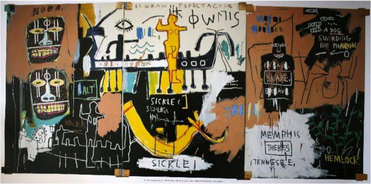 Reproduction de Basquiat, Untitled history of the black people - 1983. Tableau peint à la main dans nos ateliers. Peinture à l'huile sur toile.