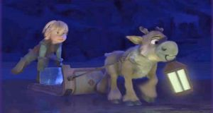 Frozen Coloring Pages Olaf And Sven : Little kristoff and sven pulling their little sled. : i'm in love