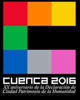 Logotipo del XX Aniversario de Cuenca como Ciudad Patrimonio - ViajarSinBillete.com