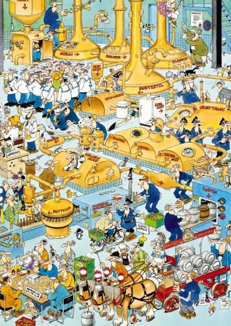 Jan van Haasteren: De Bierbrouwerij (500 stukjes)