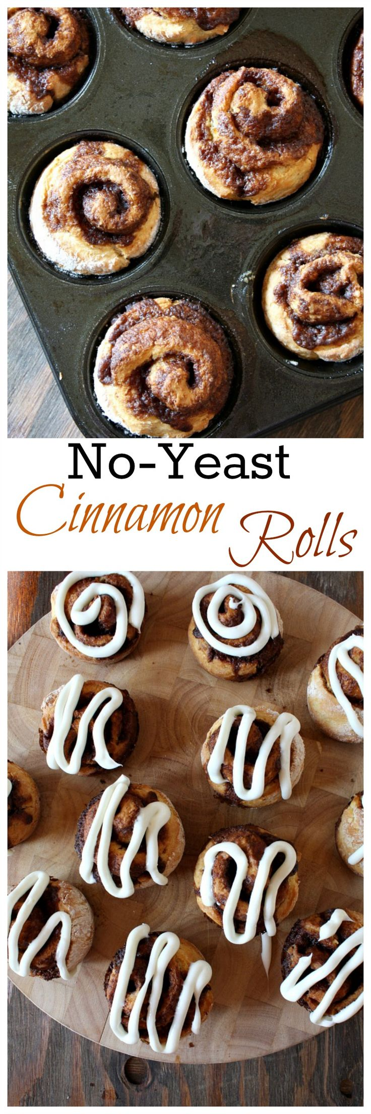 No-Yeast Cinnamon Rolls- EASY recipe!