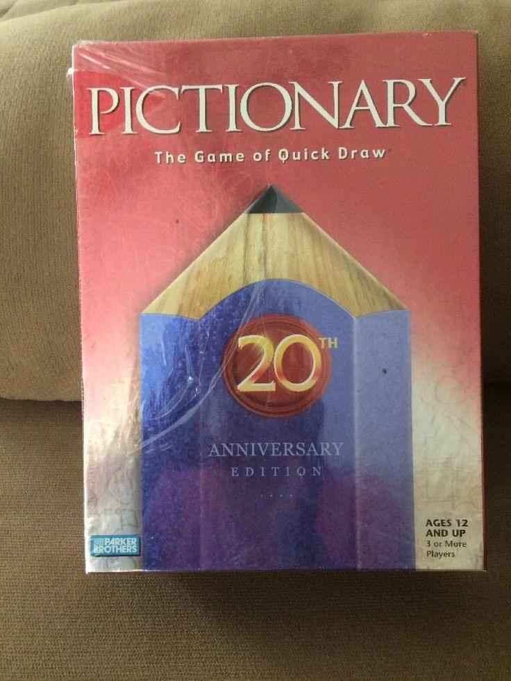 Pictionary 20Th Anniversary Edition New Parker Brother's Hasbro    eBay