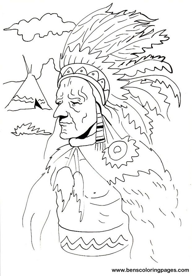 43 best Coloring Pages (for Northside Indians) images on ...
