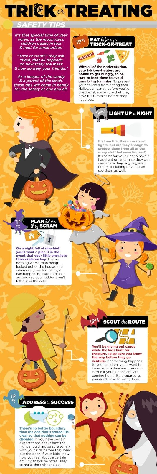 just treats no tricks halloween safety tipshalloween - Halloween Tips For Parents