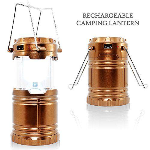 Senhai Rechargeable Camping Portable Lumière, DC et Led solaire de charge Lanternes en plein air avec à piles pour le camping, randonnée,…