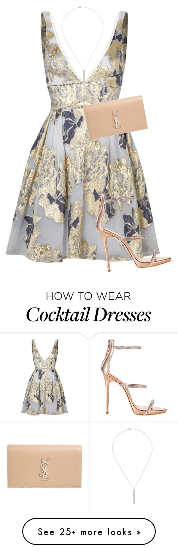 """""""Untitled #286"""" by keviprajna on Polyvore featuring Notte by Marchesa, Maison Margiela, Giuseppe Zanotti and Yves Saint Laurent"""