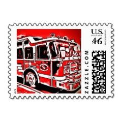 Custom Fire Truck Postage Stamps