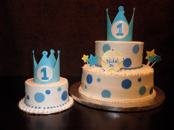 boys+first+birthday+cake | this cake was for a special baby boy nidal jr the cake on the right is ...