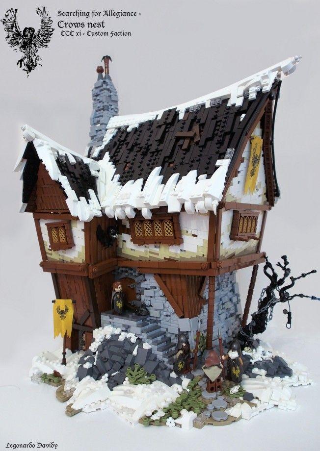 Des maisons moyenâgeuses fantastiques en Lego                                                                                                                                                                                 Plus