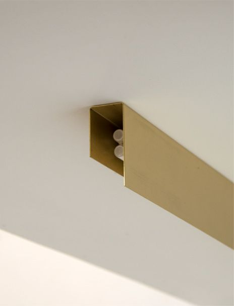Ceiling mounted fixture by PSLab in brass