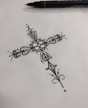 Tiny Tattoo Idea – This rosary hand-poke tattoo is a trendy and small tattoo idea….