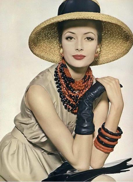 Gitta Schilling, photo by Irving Penn, Vogue, June 1959 | flickr skorver1