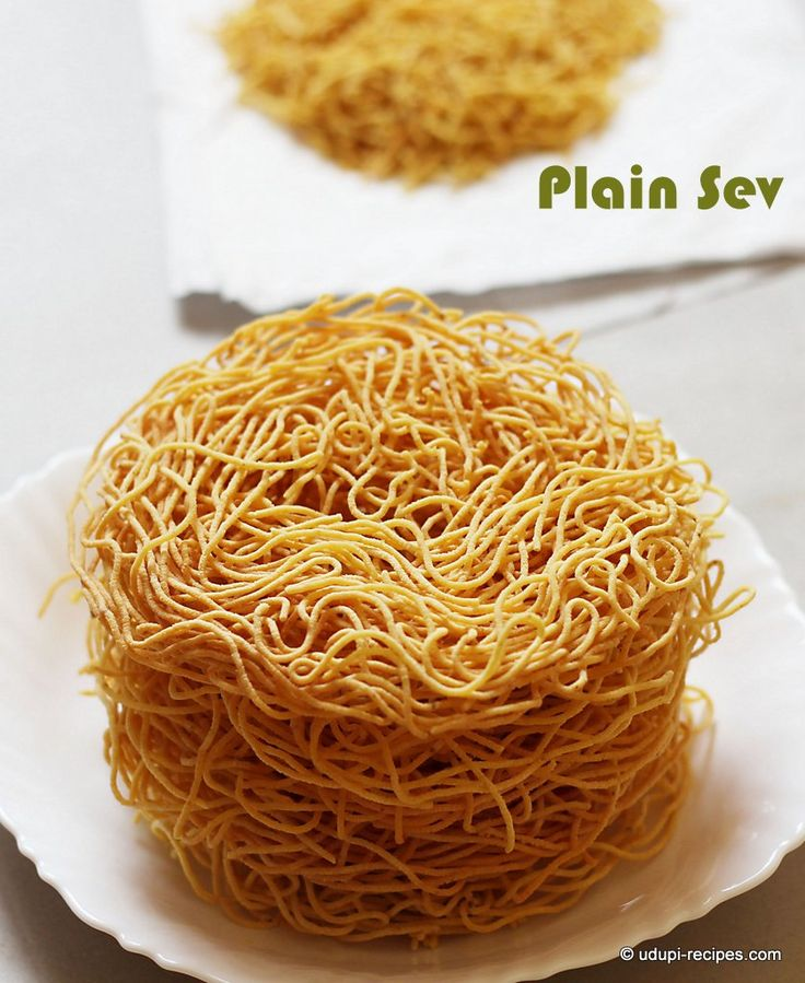 Plain sev to top on chaats, upma or munch as snack during tea time. Easy to prepare and few minutes to make.