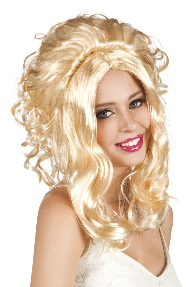 DOLLY PARTON COUNTRY MUSIC GLAM POP STAR FANCY DRESS COSTUME BLONDE WAVY WIG