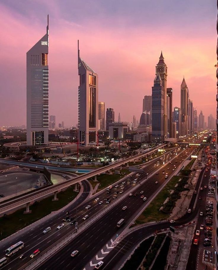A beautiful view of Emirate Towers Dubai