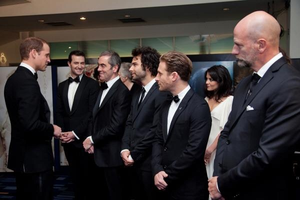 Richard Armitage and some of the cast and Prince William at the London premier of The Hobbit: An Unexpected Journey December 12 2012