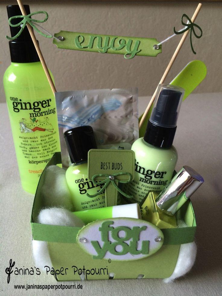jpp - Beauty Berry Basket fürs Wellness Wochenende / Teenager Geschenk / Gift / Stampin ' Up! Berlin / From the Garden / Aus meinem Garten  www.janinaspaperpotpourri.de
