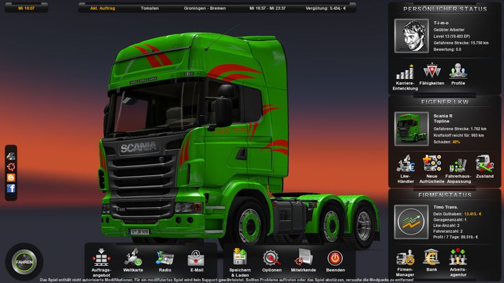 Euro Truck Simulator 2 Mein Scania Nr.2