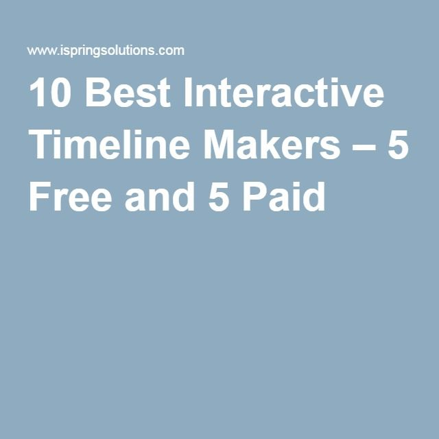 10 Best Interactive Timeline Makers – 5 Free and 5 Paid